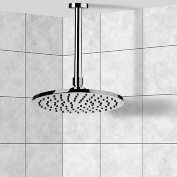 Shower Head, Contemporary, Chrome, Brass, Remer Enzo, Remer 347N-359MM20