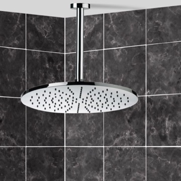 Shower Head, Contemporary, Chrome, Brass, Remer Enzo, Remer 347N-359MM30