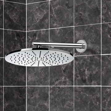 Shower Head, Contemporary, Chrome, Brass, Remer Water Therapy, Remer 359MM30-348N