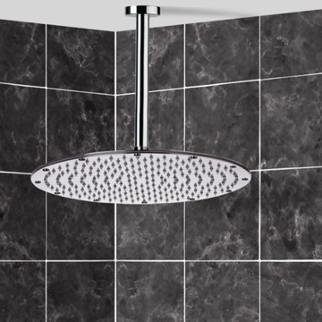 Shower Head, Contemporary, Chrome, Brass, Remer Enzo, Remer 347N-359MMXL