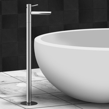 Chrome Freestanding Tub Filler