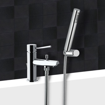 Chrome Tub Faucet With Hand Shower
