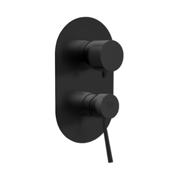 Matte Black Three Way Shower Diverter