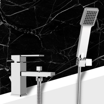 Bath and Sink Mixer With Hand Shower and Shower Bracket