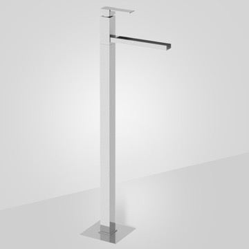 Floor Mounted Single Lever Waterfall Tub Filler Mixer