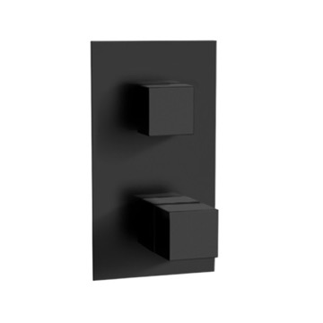 Matte Black Thermostatic Two Way Diverter