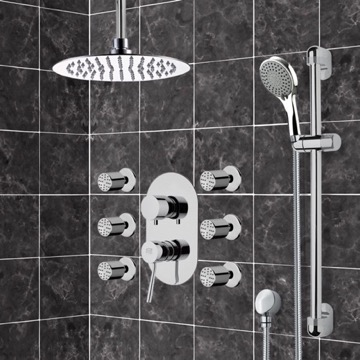 Chrome Shower System with Ceiling 10