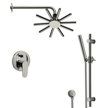 Satin Nickel Shower System with 10