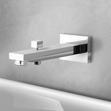 Wall-Mounted Tub Spout With Diverter