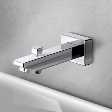 Square Tub Spout with Diverter