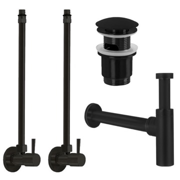 Matte Black All-Inclusive Sink Installation Kit