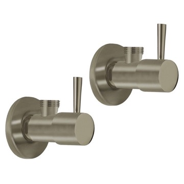 Pair Of Angle Valves With Lever Available In Three Finishes