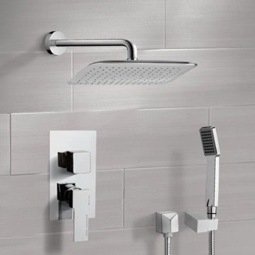 Chrome Shower System with 14