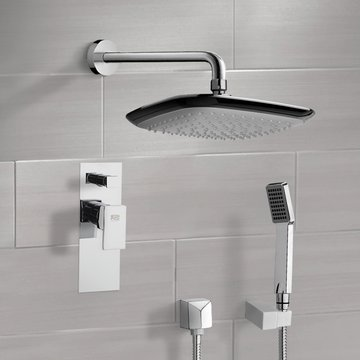Chrome Shower System with 10