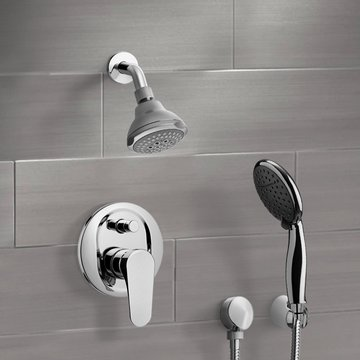 Chrome Shower System with 3