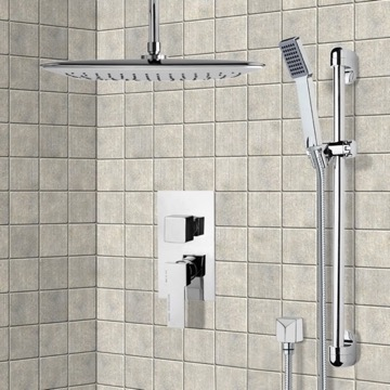 Chrome Shower System with Ceiling 14
