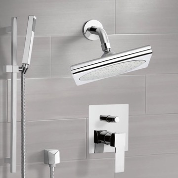 Chrome Shower System with 9