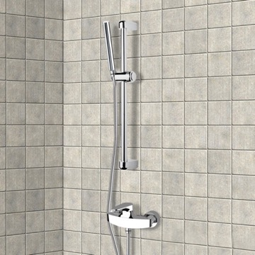 Chrome Slidebar Shower Set With Hand Shower
