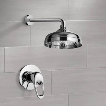 Shower Faucet Set with 8
