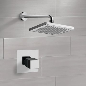 Thermostatic Shower Faucet Set with 8