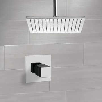 Thermostatic Shower Faucet Set with Ceiling 12