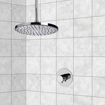 Chrome Thermostatic Shower Faucet Set with 8