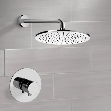 Thermostatic Shower Faucet Set with 12