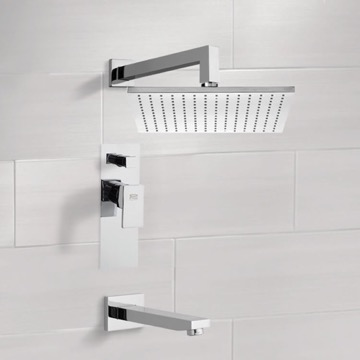 Tub and Shower Faucet Sets with 12