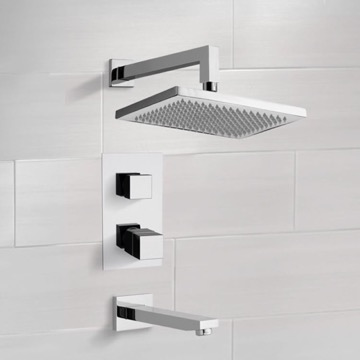 Thermostatic Tub and Shower Faucet Sets with 9.5
