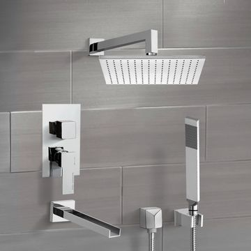 Tub and Shower System with 12
