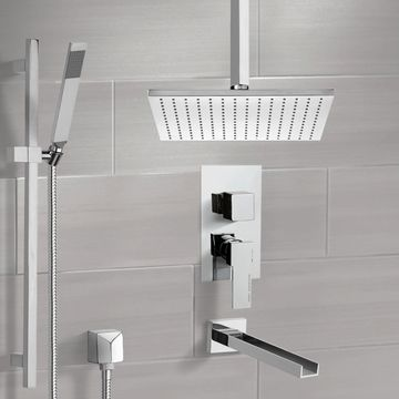 Tub and Shower System with Ceiling 12
