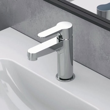 Chrome Single Hole Bathroom Faucet
