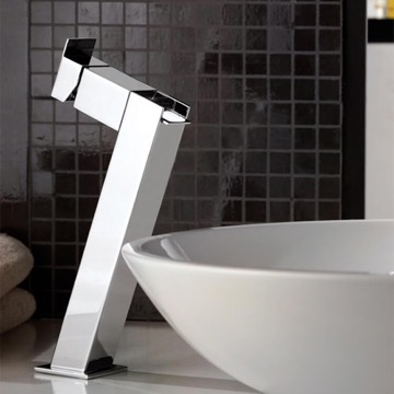 Chrome Waterfall Vessel Sink Faucet