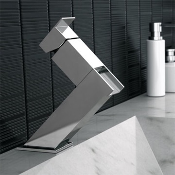 Chrome Waterfall Bathroom Sink Faucet