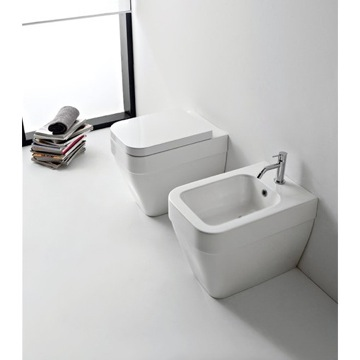 Modern White Ceramic Toilet