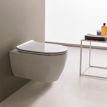 toilet round white ceramic wall mount toilet scarabeo