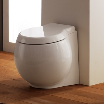 Toilet Contemporary White Ceramic Floor Trap Toilet 8105/A/P Scarabeo 8105/A/P