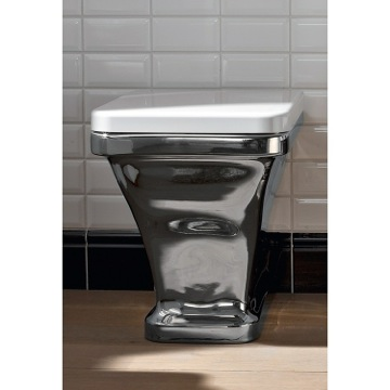White Modern Ceramic Floor Toilet