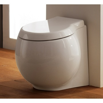 Modern Round White Ceramic Floor Toilet