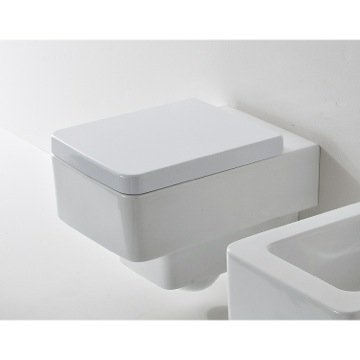 White Ceramic Square Wall Mounted Toilet