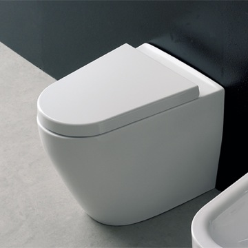 Modern White Ceramic Floor Toilet