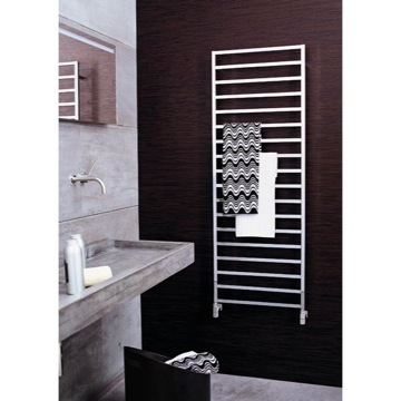 Hydronic Towel Warmer Rectangular Heated Towel Bar Scirocco Winter 14x50 Scirocco Winter 14x50