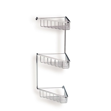 Shower Basket Chrome Wire Corner Triple Shower Basket 569 StilHaus 569