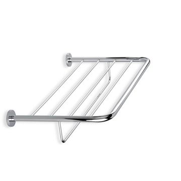 Bathroom Shelf Wall Mounted Chrome or Satin Nickel Towel Rack 786 StilHaus 786
