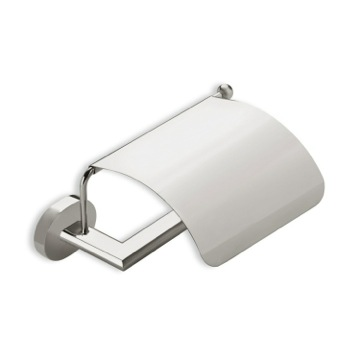 Satin Nickel Toilet Roll Holder with Cover