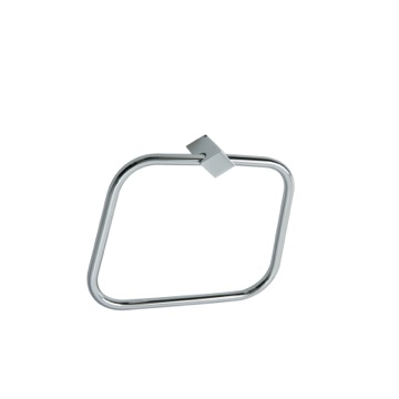 Square Brass Towel Ring FL07