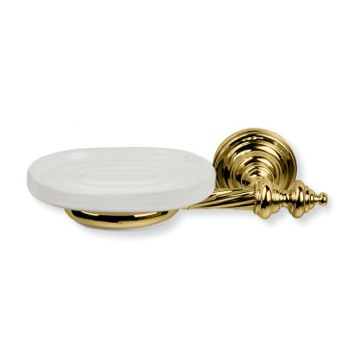 Gold Wall Mounted Classic-Style Ceramic Soap Dish