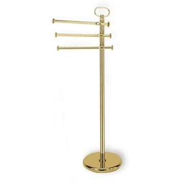 Gold Free Standing Classic-Style Brass Towel Stand