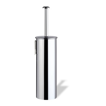 Wall Mounted Rounded Chrome Toilet Brush Holder