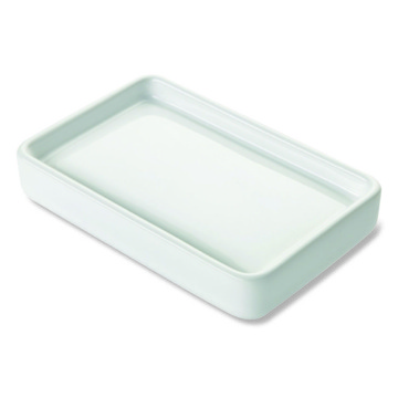 Soap Dish, Contemporary, White, Ceramic, StilHaus Living, StilHaus LV09AP